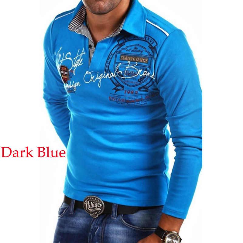 15e2a402f3c ... ZOGAA с длинным рукавом рубашки поло для мужчин XS-4XL Мужская мода  Поло рубашка повседневное ...