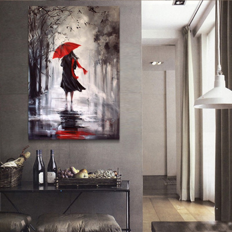 Wholesale Raining Day Abstract Oil Painting Hand Painted/print Canvas Paintings Art Pictures For Home Decor 16X24/20X28 InchWholesale Raining Day Abstract Oil Painting Hand Painted/print Canvas Paintings Art Pictures For Home Decor 16X24/20X28 Inch