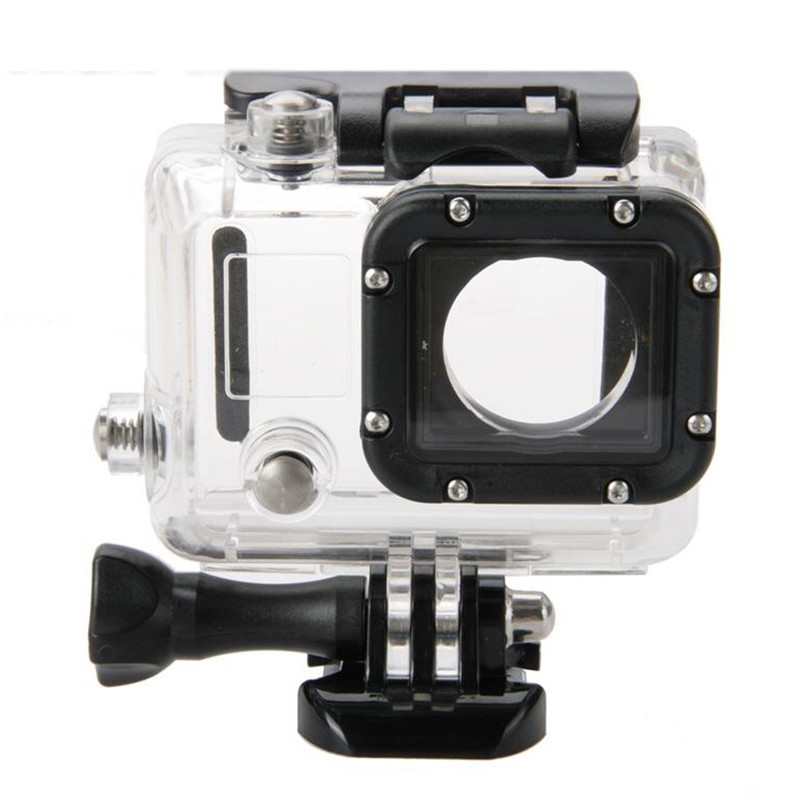 45m Underwater Waterproof Case for Gopro Hero 3 Camera Mounting for Gopro hero3 3 + 4 Outdoor Mini HD Camera Go pro Accessories