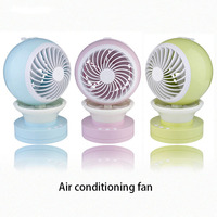 Air Conditioning Cooling Fan USB Mini Charging Spray Aromatherapy Humidifier Student Fan