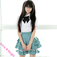 Sweet Cute Ruffle Layered Lolita Bloomers Pumpkin Shorts for Girls