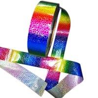 1Roll 400*4cm Colorful nails sticker art rainbow Nail supplies nail art Transfer foil sticker decoration