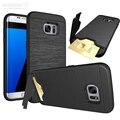 Heavy Armor Case Для Samsung Galaxy S7 S7 Edge PC Hybrid ТПУ силиконовые Слот для Карты Крышка Для iPhone 7 7 Plus 6 6 Плюс Kickstand Case