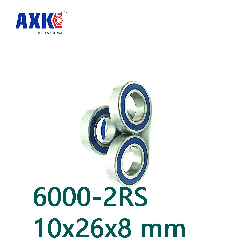 4PCS 6000-2RS Bearing 10x26x8 Ball Bearing Dual Sided Rubber Sealed Deep Groove