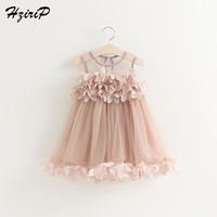 HziriP Retail New Arrival Summer Baby Girls Dress Fashion Mesh Vest Princess Party Dress High Quality