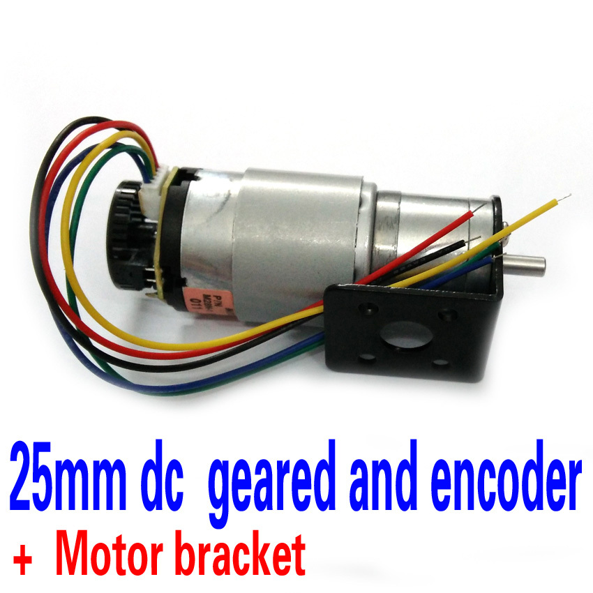 The New Dc Geared Motor Encoder Motor Bracket 12v125rpm