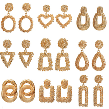 Fashion Geometric Earrings For Women 2019 New Big Statement Golden Silver Color Trendy Jewelry Wholesale