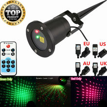 Mini Stage light Christmas Remote RG Laser Effect Projector Waterproof stage lights for Garden Outdoor lighting