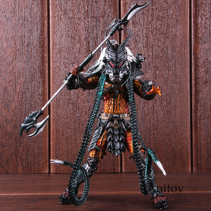 Anime The Ultimate Alien Hunter Predator Action Figure Kenner Leader Clan Chief Collectible Model Toy Gift