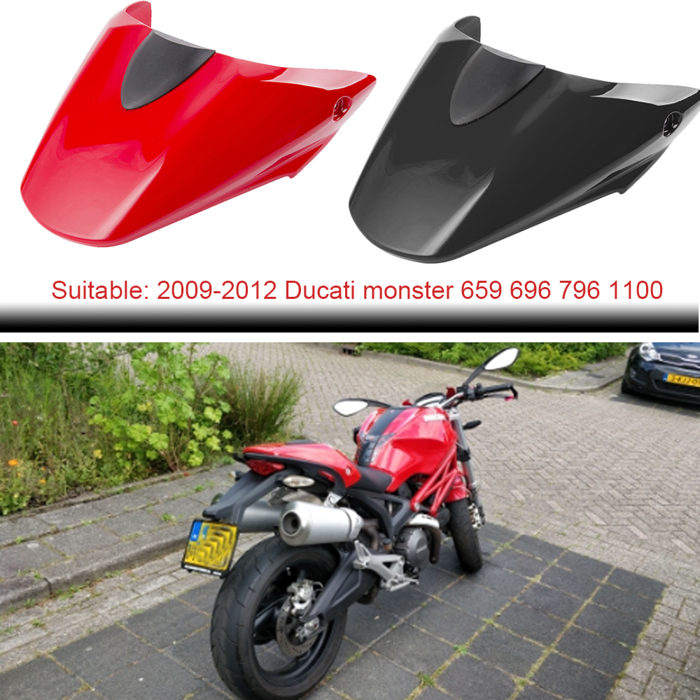 Motorcycle Accessories Rear Pillion Passenger Seat Back Cowl Cover For Ducati 796 795 M1100 696 2009 2010 2011 2012