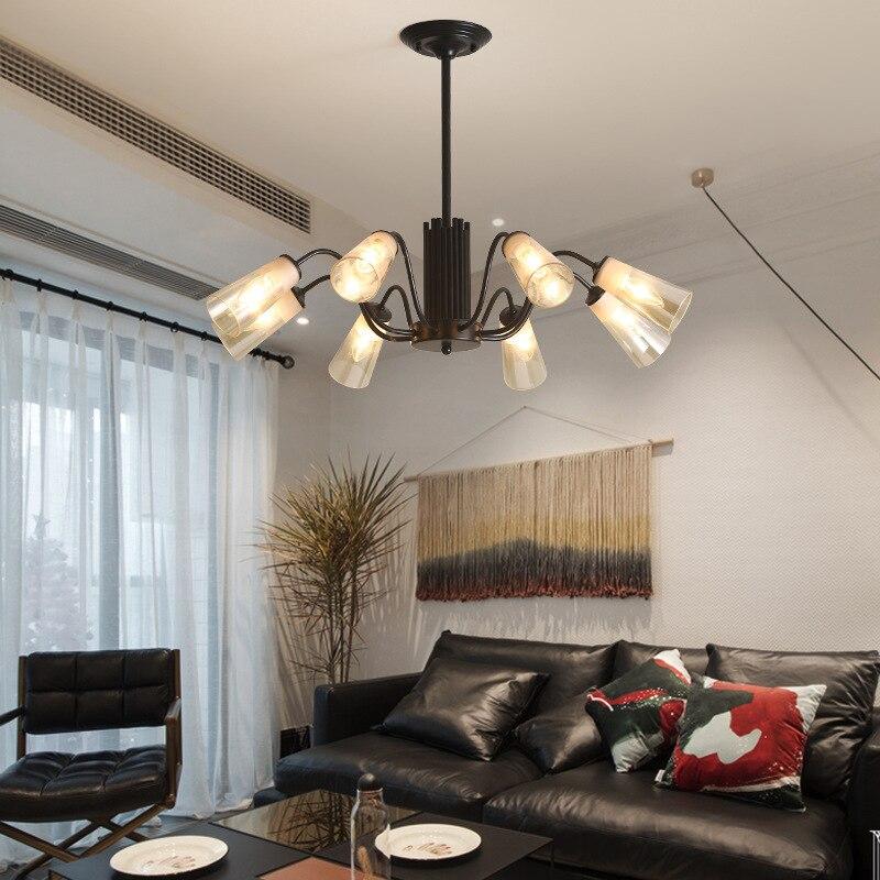 Потолочные светильники скандинавский минималистичный креативный светильник для ресторана пост Современная индивидуальная многоголовая