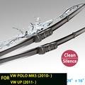 """Limpiaparabrisas cuchillas para volkswagen polo mk 5 (desde 2009 en adelante) 24 """"16"""" en forma de botón tipo wiper armas hy-075"""