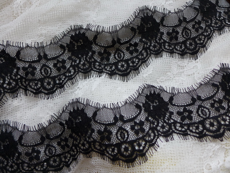 Lace Arts,crafts & Sewing Elegant Black Blue Elastic French Tulle Laces Fabric For S71 African Wedding With Sequins Beads