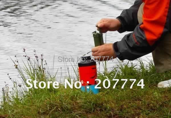 Free shipping soldier s water filter 100 remove the bacteria in water suit for camping and