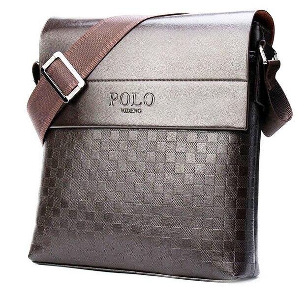 d3a771b383faa Moda para hombre Polo Videng cuero de la PU plazoletas hombres Messenger  Bag bolso del ocio