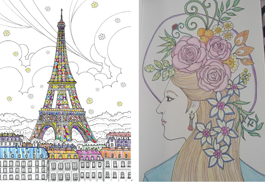 France Travel Coloring Book Secret Garden Books Style For Adult Children Relieve Stress Kill Time Graffiti