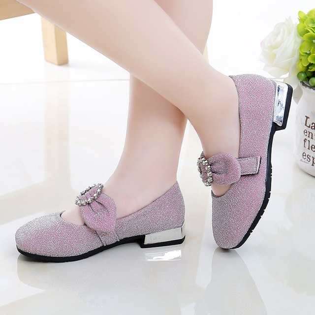 2019 baby girls spring autumn flats casual princess shoes children's bowknot shallow mouth shoes sc9 2