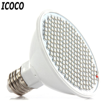 ICOCO 1pc 200 LEDs E27 Hydroponics Plant Grow Light Flower Plants Growth Bloom For Greenhouse Plant Flowering Promotion Sale