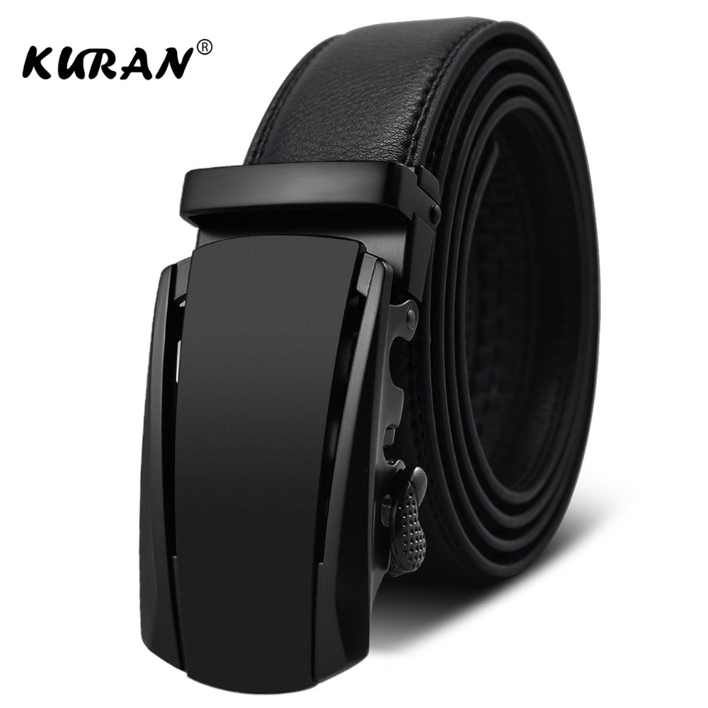 [KURAN] New Brand designer mens   belts   luxury real leather   belts   for men metal buckle man Jeans pants genuine leather   belt   male