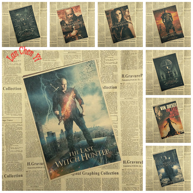 Sci Fi Action Movie The Last Witch Hunter Kraft Paper Poster Cafe Creative Wallpaper Interior Decoration