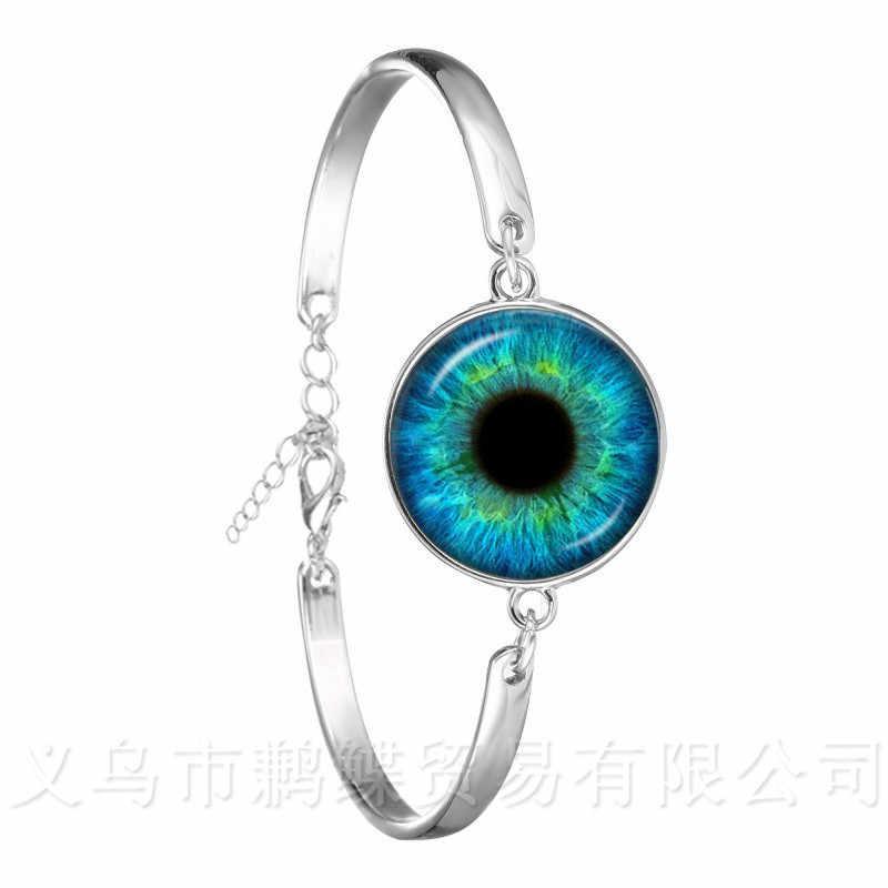 Modeketen Armband 18mm Glazen Koepel Zwart Groen Cat Eye Bangle Evil Ogen Bangles Dragon Eye Sieraden Groothandel