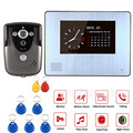 "7"" Color HandsFree Video Doorbell ,Video Doorphone with clock doorbell with RFID free shipping"