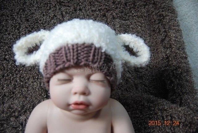 Livraison gratuite, Main Crochet tricot chapeau de bébé ours en peluche  Bonnet photographie   Photo e14e2162d87