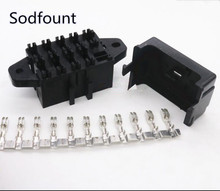 double row 9 loop road medium auto relay fuse box with 18pcs terminals  bx2091-1 car insurance holder for cars, electric cars