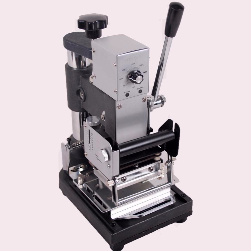 Best Quality 220V/110V Manual Hot Foil Stamping Machine Card Tipper Embossing Machine For ID PVC Cards