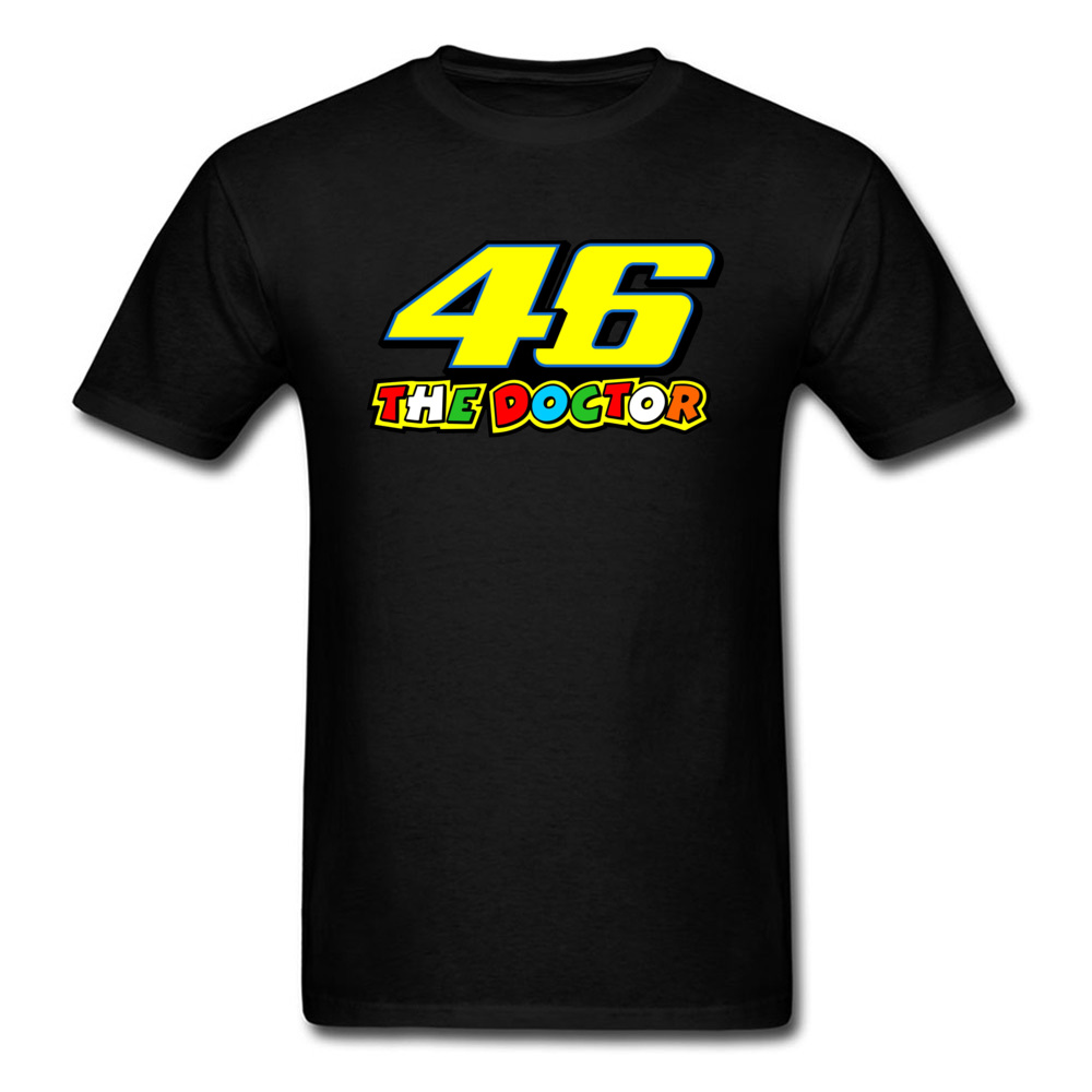 Motor GP The Doctor Rossi VR46 T-shirt Men T Shirt Moto Biker Clothing Cotton Tshirt Black Tees Letter Tops For Man