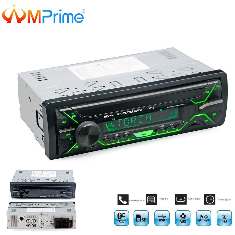 AMPrime Car Radio Stereo Player Bluetooth Phone AUX-IN MP3 FM/USB/Remote Control 12V Car Audio Auto 2018 Sale New Audio Stereo