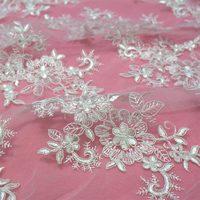 Broderie tulle guipure cordon dentelle tissu escalope bordée robe de mariage dentelle tissu 130 large gros