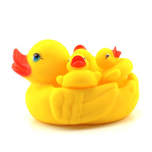 4pc/lot Rubber Yellow Ducks Bathing Musical Toys for Children Baby Water Games Kids Summer Swimming Pools Boys Girls Fun Gifts(China)