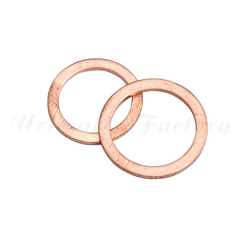 100pcs M4-m14 Assorted Copper Washer Gasket Set Flat Ring Seal Assortment Kit With Box For Hardware Accessories