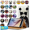 Universal Phone Leather Cases For Samsung Galaxy Note I9220 Note 2 N7100 Note 3 N9000 Printed