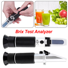 Portable 0~32% Brix Refractometer Optical Sugar Food Beverages Juice Fruit ATC Content Meter Measuring Tool 0 10% brix meter sugar concentration detector drinking juice sweetness refractometer accuracy 0 1% optical instrument