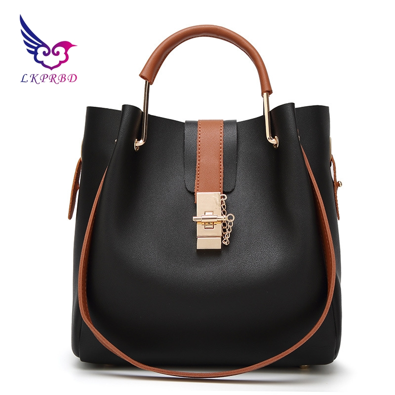LKPRBD 2018 female ring handle handbag ladies handbag bucket shaped picture of women's Fashion Shoulder Bag Messenger Bag стоимость
