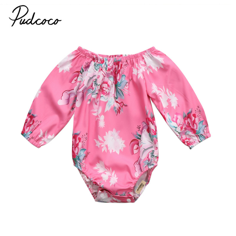Flower Toddler Baby Girls Newborn Infant Long Sleeve Floral Romper Jumpsuit Outfits Sunsuit Clothes Kids Playsuit Clothing 0-3Y