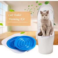 HQ ABS Cat Toilet Training Kit Pet Trainer Puppy Kattenbak Kattenbakvulling Dierbenodigdheden Gedrag Kattenbak Dierbenodigdheden