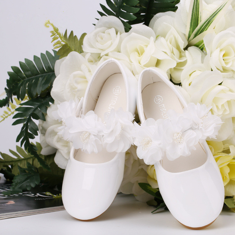 2018 Spring Children Korea Flower Lace Pearl Leather Shoes Kids School Wedding Shoes Girls Party Dress Princess Single Shoes 2018 Spring Children Korea Flower Lace Pearl Leather Shoes Kids School Wedding Shoes Girls Party Dress Princess Single Shoes