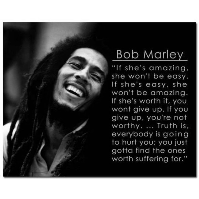 J0107 Motivational Quotes Bob Marley Pop 14x21 24x36 Inches Zijde