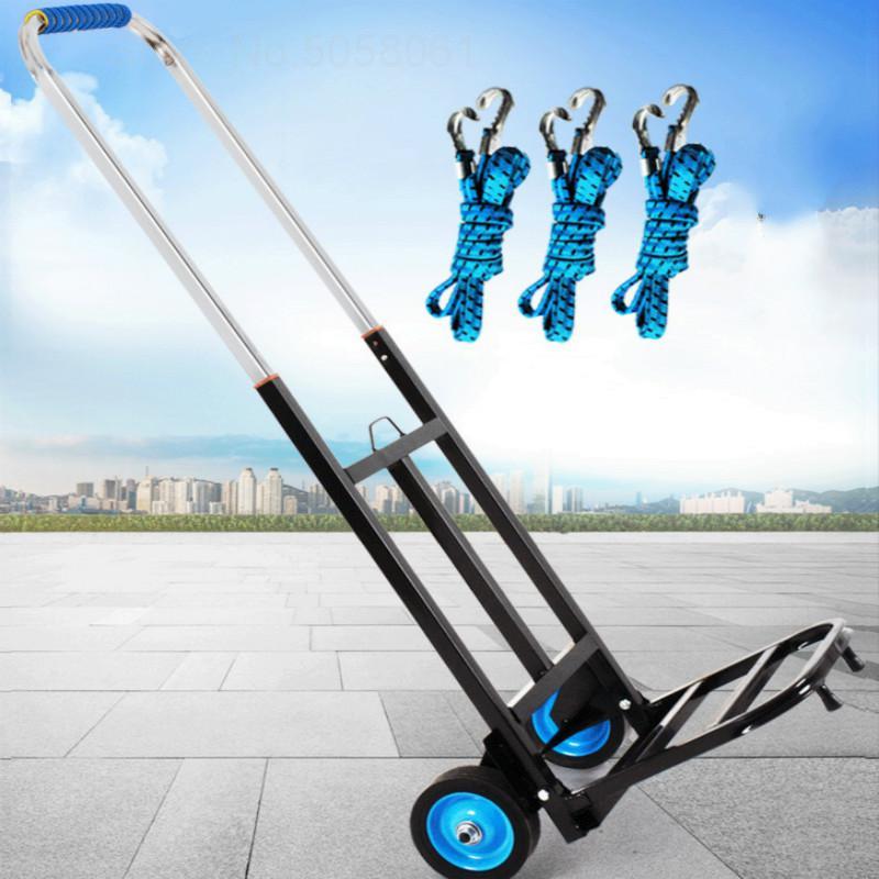 Hand-Cart Trolley Luggage Transportation Shopping-Trailer Folding Portable Cargo Small