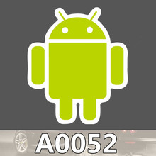 A0052 Android Intelligent Robot LOGO Waterproof Sticker for Cars Laptop Luggage Fridge Skateboard Graffiti Notebook Stickers