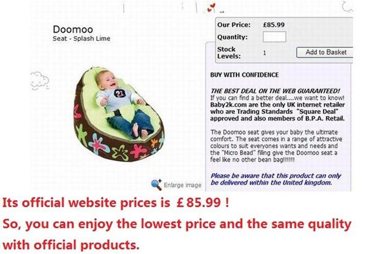 Levmoon Средний кресло мешок детская кровать для сна портативный складной детское сиденье диван Zac без наполнителя
