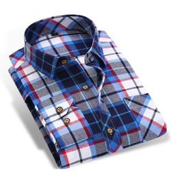 Spring autumn 2017 men s long sleeve brushed flannel shirt slim fit comfort soft cotton blend.jpg 250x250