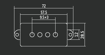1 par de 2 piezas 4 cuerdas Noiseless Pickup Black para reemplazo de - Instrumentos musicales - foto 3