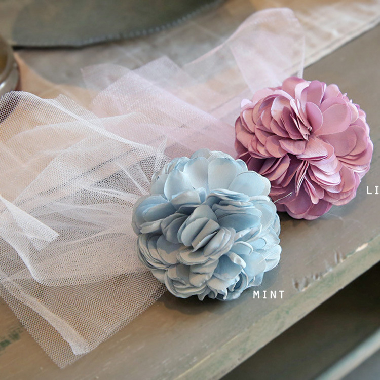 Korea Princess Hair Clips Girls Hair Accessories Flower Crown Lace Hair Bows Hair Ornaments Rim Hairpin Kids Gift -5