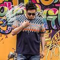 Buena calidad de la camiseta a cuadros t-shirt hombres xxl-7XL 2016 verano estilo de la cruz cuello redondo más tamaño 7xl 6xl 5xl 4XL t-shirt homme XXL