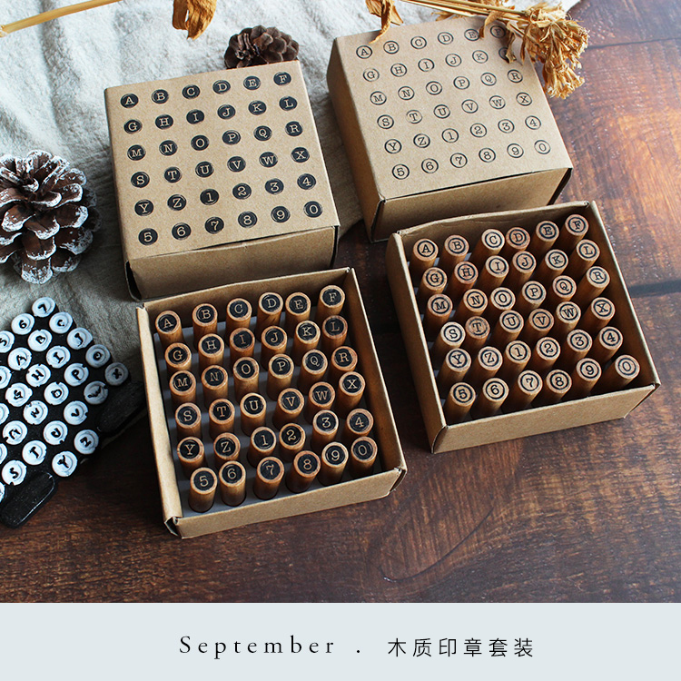 Moodtape Vintage Paper Boxes Wood Clear Stamp For DIY Scrapbooking/photo Album Decorative Stamp Typewriter Rubber Stamp Seal