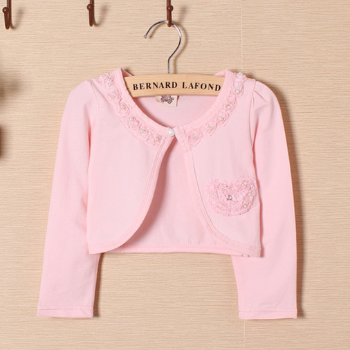 Kids Christmas Sweaters Girls Pink Lace Cute Girls Shrug Sweater 2 ...